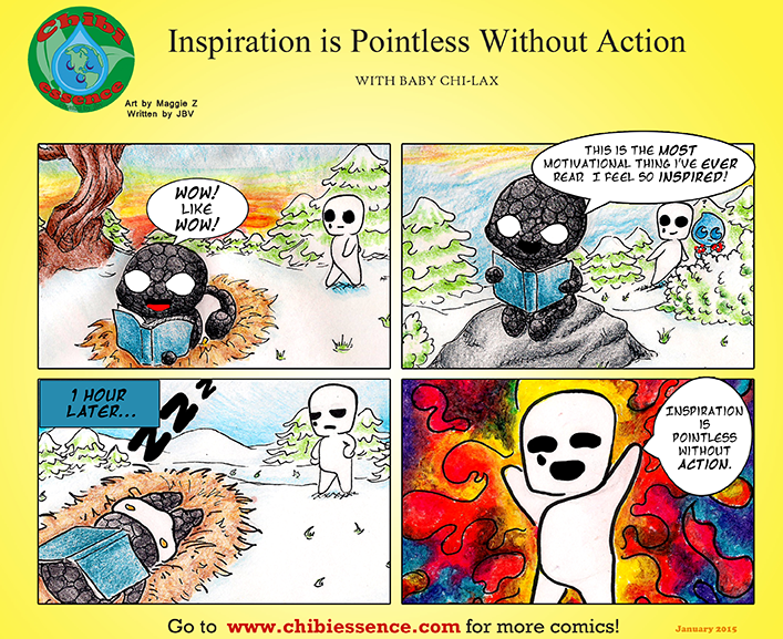 Inspiration is pointless without action